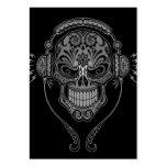 DJ negro azucara el cráneo Plantilla De Tarjeta De Visita