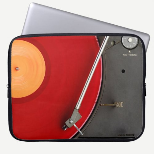 Dj Network vinyl console Computer Sleeve
