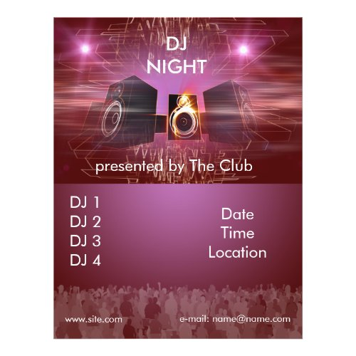 dj_night_dance_flyer flyer