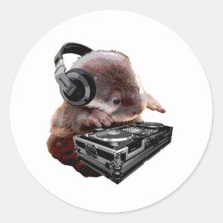 DJ None Otter Classic Round Sticker