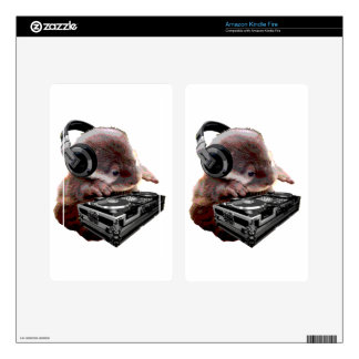 DJ None Otter Decal For Kindle Fire