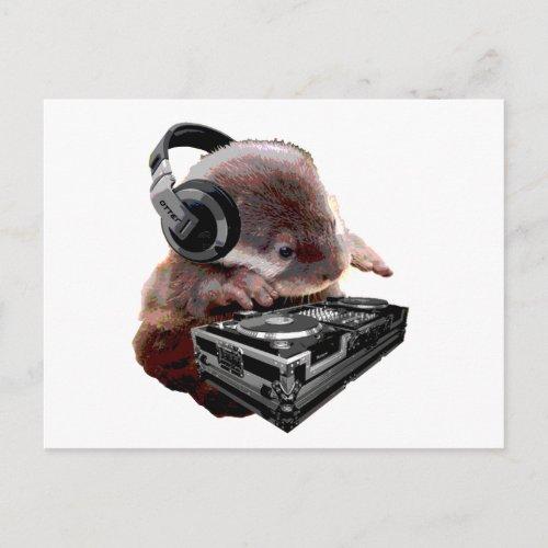 DJ None Otter Postcard