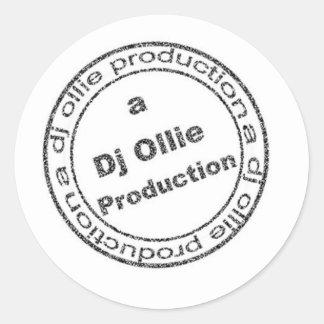 DJ Ollie Passport Stamp copy Classic Round Sticker