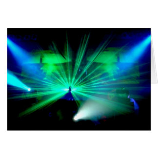 DJ On The Decks - blank notelet / card