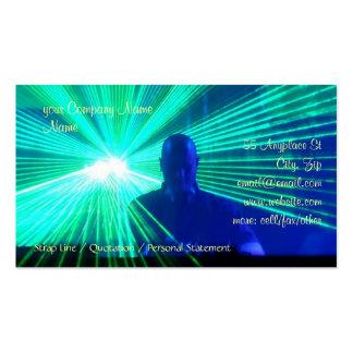 DJ on the decks business card template
