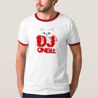 DJ ONeill with Cartoon Cat T-Shirt