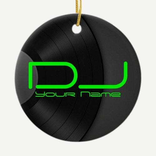DJ Ornament with Vinyl Backgroud