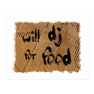 DJ para la comida Postal