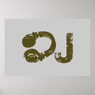 DJ para las paredes, juega la música Póster