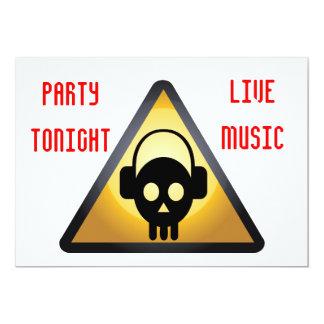 DJ party flyer Card