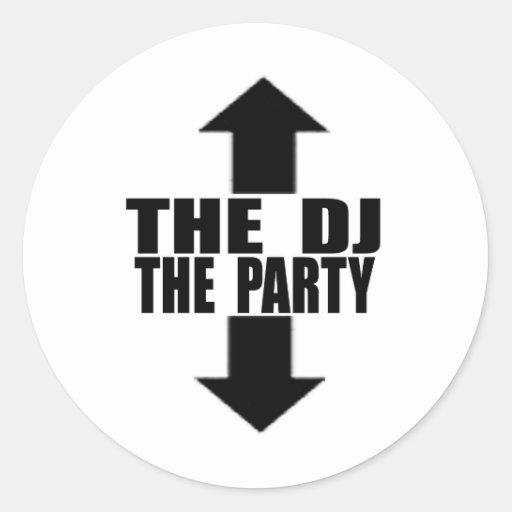 DJ-PARTY PEGATINA REDONDA
