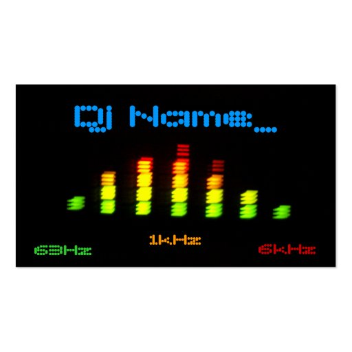 Dj Personal Equalizer Bar EQ - add your name Business Card