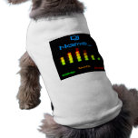 Dj Personal Equalizer Bar EQ - add your name Dog Clothes