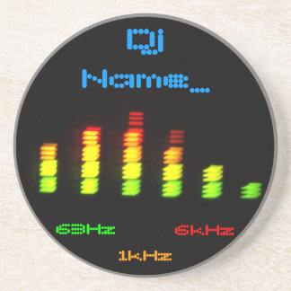 Dj Personal Equalizer Bar EQ - add your name Drink Coaster