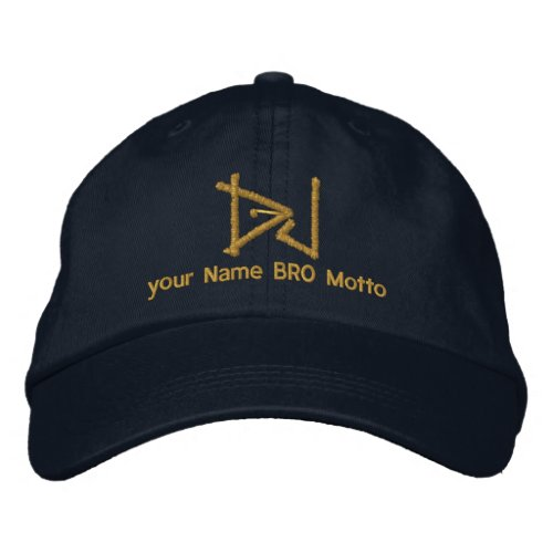 DJ Personalizable Cap Your Own Text Bro  Babe