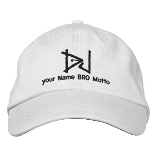 DJ Personalizable Cap Your Own Text Bro & Babe Embroidered Hat