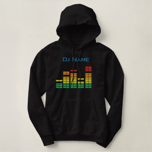 Dj Personalize Equalizer Bar EQ - add your name Embroidered Hoodie