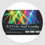 DJ Pete And Family Classic Round Sticker