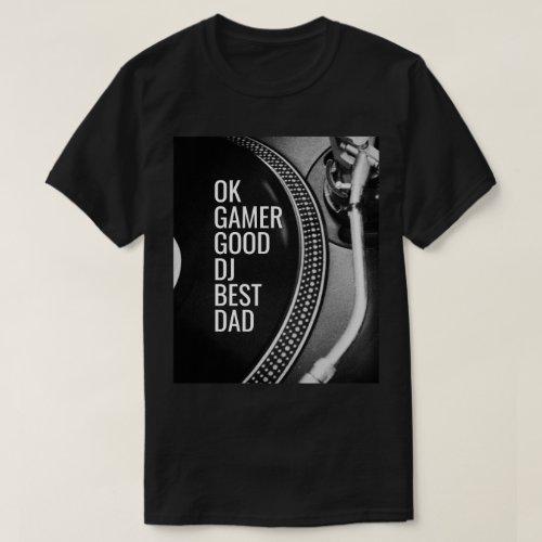 DJ Photo Dad Vintage Turntable T-Shirt
