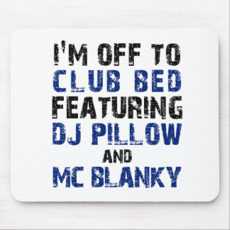 DJ Pillow and Mc Blanky Mouse Pad