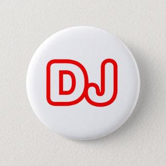 DJ PINBACK BUTTON