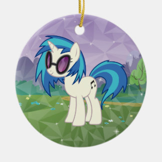 DJ Pon-3 Double-Sided Ceramic Round Christmas Ornament