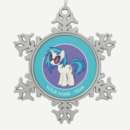 DJ Pon-3 Snowflake Pewter Christmas Ornament
