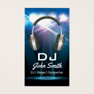 Event dj business cards templates zazzle dj professional business card reheart Choice Image