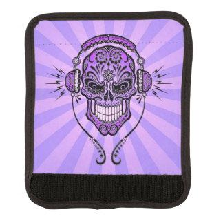 DJ púrpura azucara el cráneo con los rayos de la Funda Para Asa De Maleta