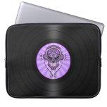 DJ púrpura azucara el cráneo en gráfico del disco  Funda Computadora