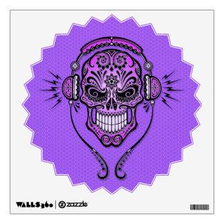 DJ púrpura azucara el cráneo Vinilo Adhesivo
