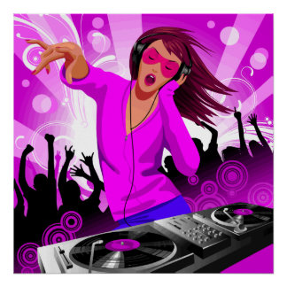 DJ Raver Chick Print