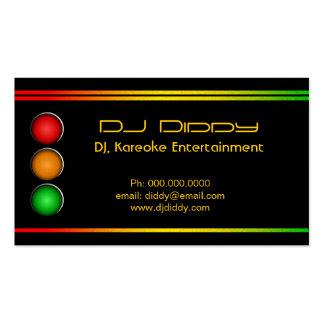 DJ Reggae Traffic Lights Custom Business Cards