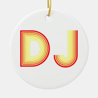 DJ retro Adorno Redondo De Cerámica