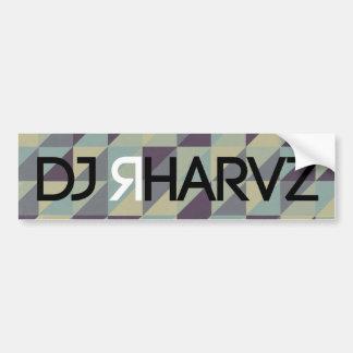 DJ RHARVZ ETIQUETA DE PARACHOQUE