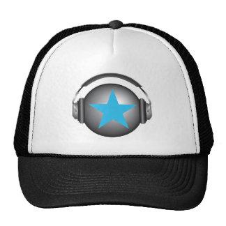 dj ricorox earth with headphones trucker hat