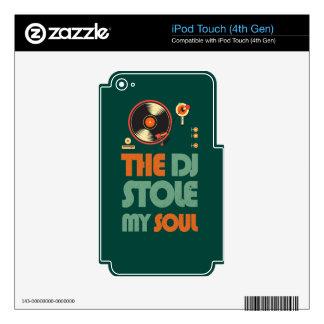 DJ robó mi alma Calcomanías Para iPod Touch 4G