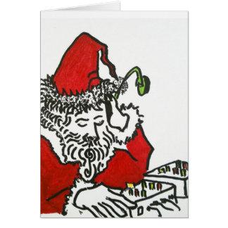 DJ Santa Greeting Card