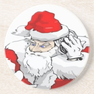DJ Santa Claus Mixing The Christmas Party Track Drink Coaster