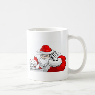 DJ Santa Claus Mixing The Christmas Party Track Coffee Mug