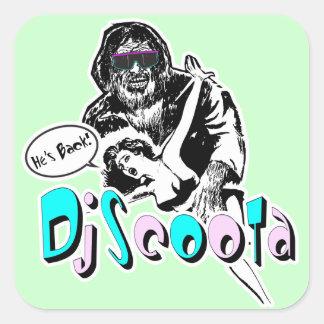 """Dj Scoota """"He's Back!"""" Square Sticker"""