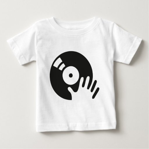 Zazzle Dj Scratch turntable Baby T-shirt