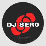 Dj Sero Round Stickers