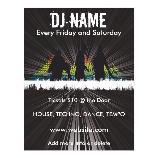 DJ Shadows Music Flyer