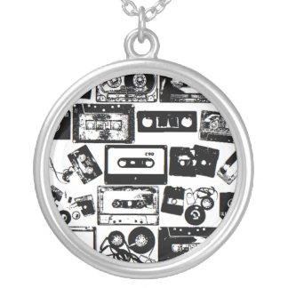 dj silver plated necklace