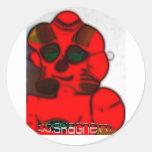 DJ.SK Deformed Robot Classic Round Sticker
