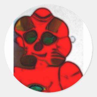 DJ.SK Deformed Robot w/o Classic Round Sticker