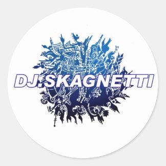 DJ.Skagnetti Blueworld Etiqueta Redonda