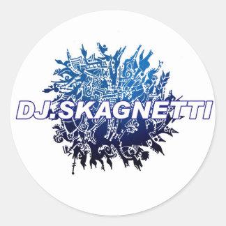 DJ.Skagnetti Blueworld Pegatina Redonda