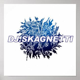 DJ.Skagnetti Blueworld Poster